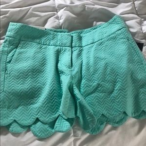 Pants - Crown and Ivy scalloped shorts